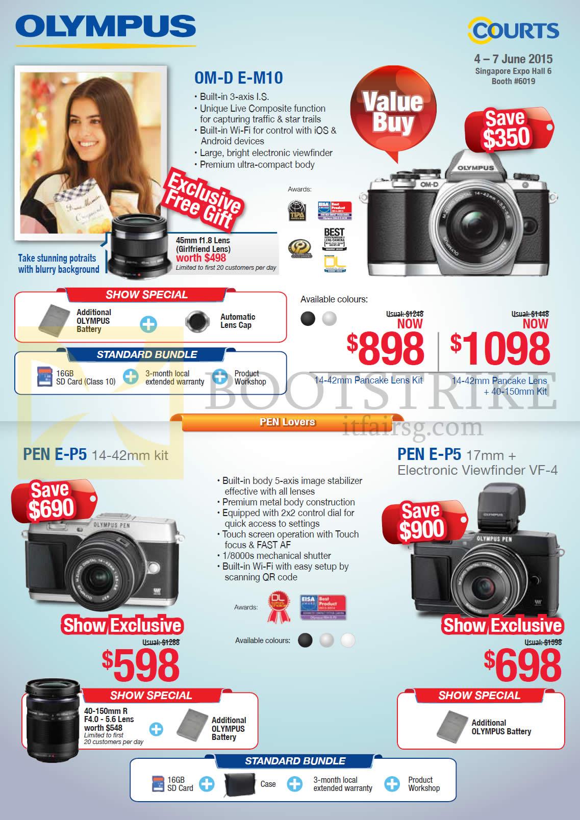 Olympus Digital Cameras OM-D E-M10, Pen E-P5, Pen E-P5