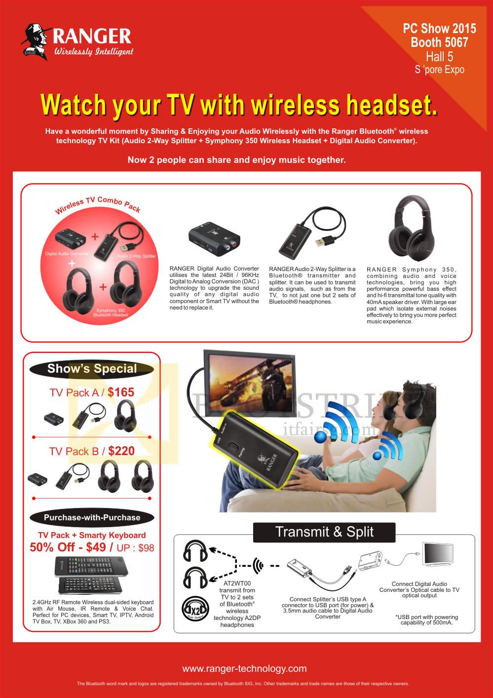 PC SHOW 2015 price list image brochure of Ranger Wireless TV Packs