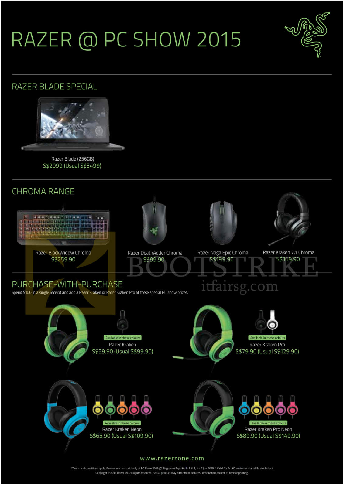 Razer Blade Notebook Chroma Range Keyboard Mouse Pc Show