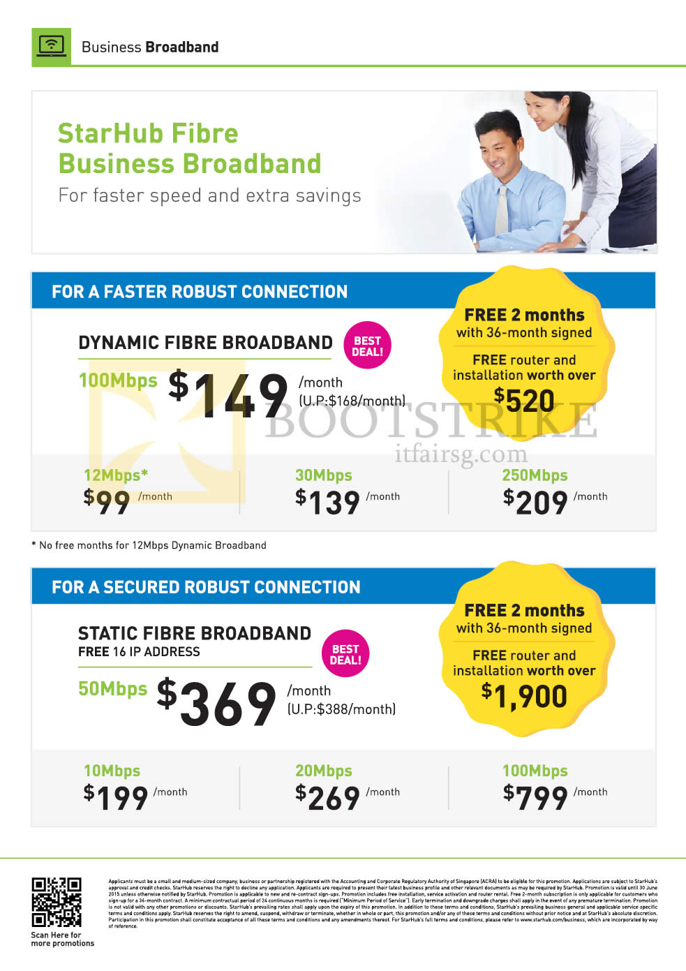 PC SHOW 2015 price list image brochure of Starhub Business Dynamic Fibre Broadband 100Mbps, Static 50Mbps 10Mbps 20Mbps 100mbps 12Mbps 30Mbps 250Mbps