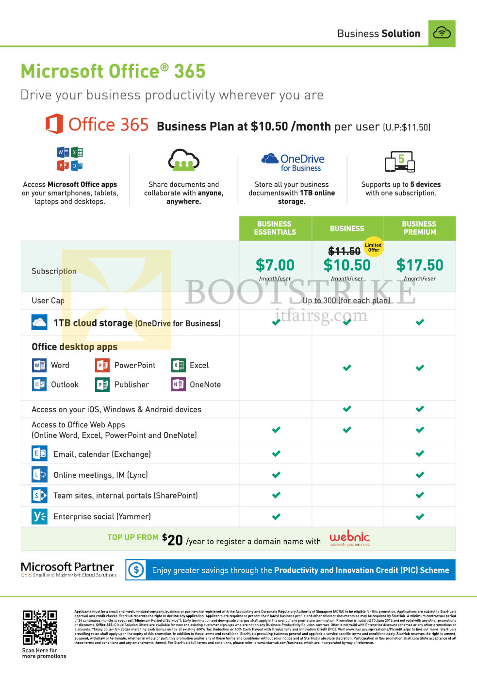 PC SHOW 2015 price list image brochure of Starhub Business Office 365 Plan