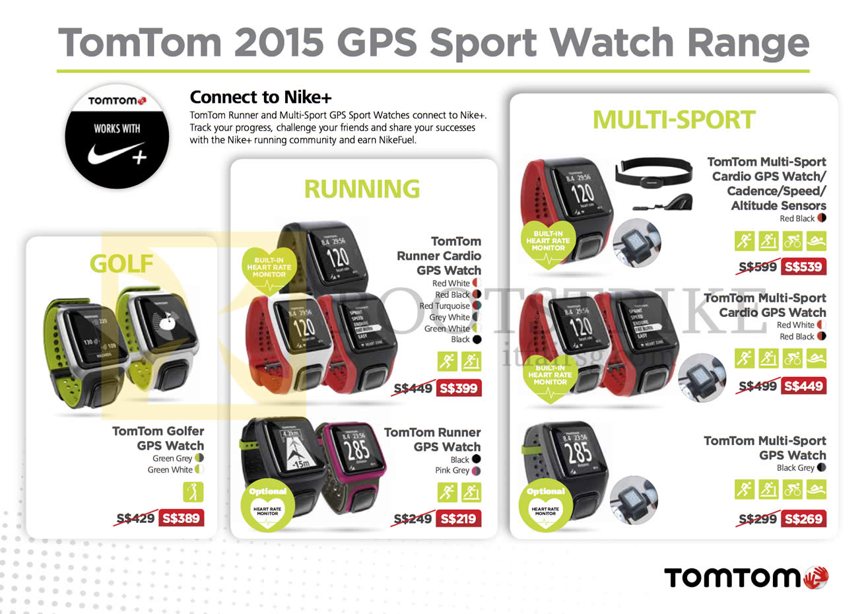 TomTom (Newstead) 2015 GPS Sport Watches, Golfer, Runner ...