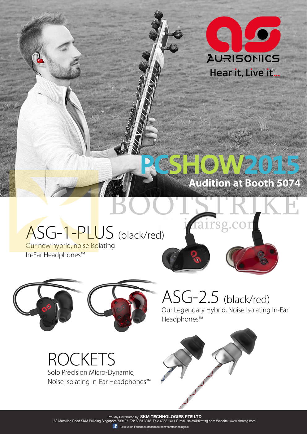 PC SHOW 2015 price list image brochure of Treoo Aurisonics ASG-1-Plus, ASG-2.5, Rockets