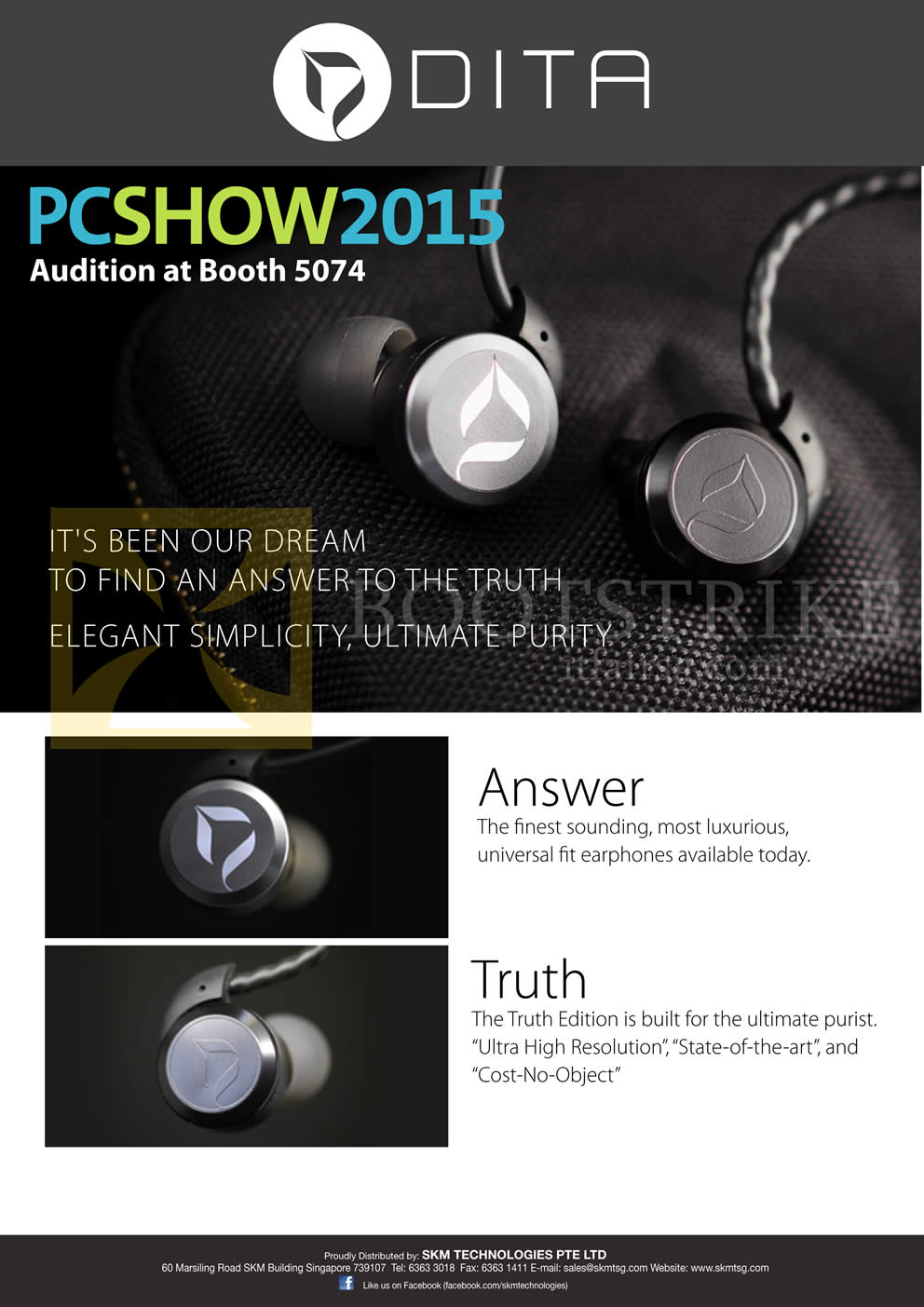 PC SHOW 2015 price list image brochure of Treoo DITA Answer Truth
