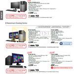 Desktop PC M52AD-XTREME-SG006S, M32AD-SG006S, M32AD-SG004S, P50AD-SG014S, P50AD-SG005S