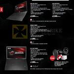 Notebooks, ROG, G501JW-FI201H, G501JW-FI072H, G550JX-FI067H, G771JW-T7097H