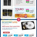 External Storage Drive HGST Touro Mobile 500GB, 1TB, Desk, Deskstar NAS Internal HDD 3TB 4TB 6TB
