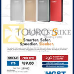 HGST External Storage Drive Touro S Mobile Desk 1TB