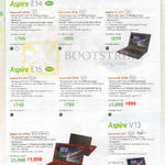 Notebooks Aspire E5-473, 473G, 573, 573G, V3-371
