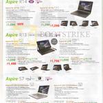Notebooks Aspire R14, R13, S7, R3-471TG, R7-371T, S7-393-55208G12ews, 75508G25ews