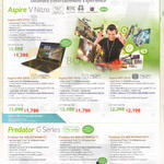 Notebooks Desktop PCs Aspire V Nitro, Predator G Series Aspire VN7-571G, 591G, 791G, Predator G3-605