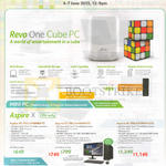 Notebooks Revo One Cube Desktop PC, Aspire XC-705 I416MR41T, I446MR41T, I479MR162T