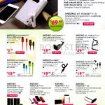 Andino Cables, Bluetooth Earphone, Bookcase, Powerbank, Cable Micro USB