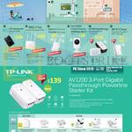 TP-Link Networking AV1200 3 Port Gigabit Passthrough Powerline Starter Kit AV1200, AV500