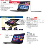 Notebooks Inspiron 15 7000 Series, XPS 11, XPS 15