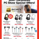 Epicentre Sony Earphones Headphones MDR-1RNCMK2, 1MK2, 10R, XBA-H2, AS800AP, AS800BT, NWZ-W273S