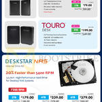 Hard Disk Drives, NAS, Touro Mobile, Touro Desk, Deskstar NAS 500GB, 1TB, 3TB, 4TB, 6TB