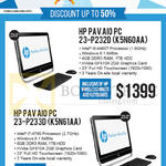 Newstead AIO Desktop PCs Pav 23-P232D K5N60AA, 23-P233D K5N61AA