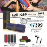 Ultimate Ears Megaboom, Boom, Mini Boom UE350 Earphones, Speakers
