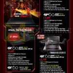 Notebooks CX60 2QF 1608SG, GP60 Leopard Pro, GE60 2PE 846SG Apache Pro, GE62 2QF 231S