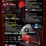 Notebooks Gamepro Shop GT72 2QD 1005SG 848SG Dragon Edition, GT80 004SG