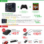 Xbox One With Kinect Consoles, Games, Designer Mouse, Wireless Adapter, Sculpt, Arc Touch