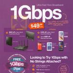 MyRepublic 49.99 1Gbps Fibre Broadband, Free Trial