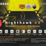 Nighthawk X6 AC3200 Tri-Band Wi-Fi Router