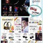 Gavio Headphones, Earphones, USB Charger, Power Adapter, Speaker