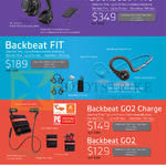 Bluetooth Headsets Backbeat Pro, Fit, Go2 Charge, Go2