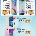 Smartphones Galaxy S6, S6 Edge, Note Edge, Note 4