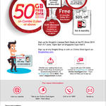 Singtel CIS Free 50GB Free Data, Caller ID, AutoRoam, SIM Card, Registration