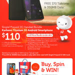 Singtel Prepaid 3G Handset Bundle, Karbonn Titanium S8, Buy Spin Win