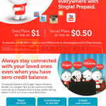 Singtel Prepaid Data Plans From 1 Dollar, Social Plans From 50 Cents