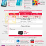 Tablets Samsung Galaxy Tab A, Galaxy Tab 4, Combo Mobile Broadband Plans
