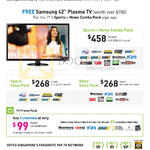 Business TV On Fibre, Free Samsung Plasma TV