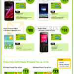 Prepaid Handset Bundles, Top-Up Cards, Asus Zenfone 5, FonePad 7, Alcatel Onetouch Pop D1, Huawei U5130