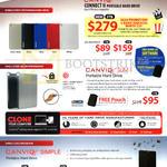 Toshiba Hard Disk Drives Connect II 1TB 2TB 3TB, Canvio Slim II, Simple