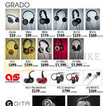 Treoo GRADO, EGrado, SR60e SR80e SR125e SR225e SR325e, RSIe RS2e PS500e GS1000e PS1000e, Aurisonics, ASG 1-Plus, ASG 2.5, ASG ROCKETS, Dita, Answer, Truth