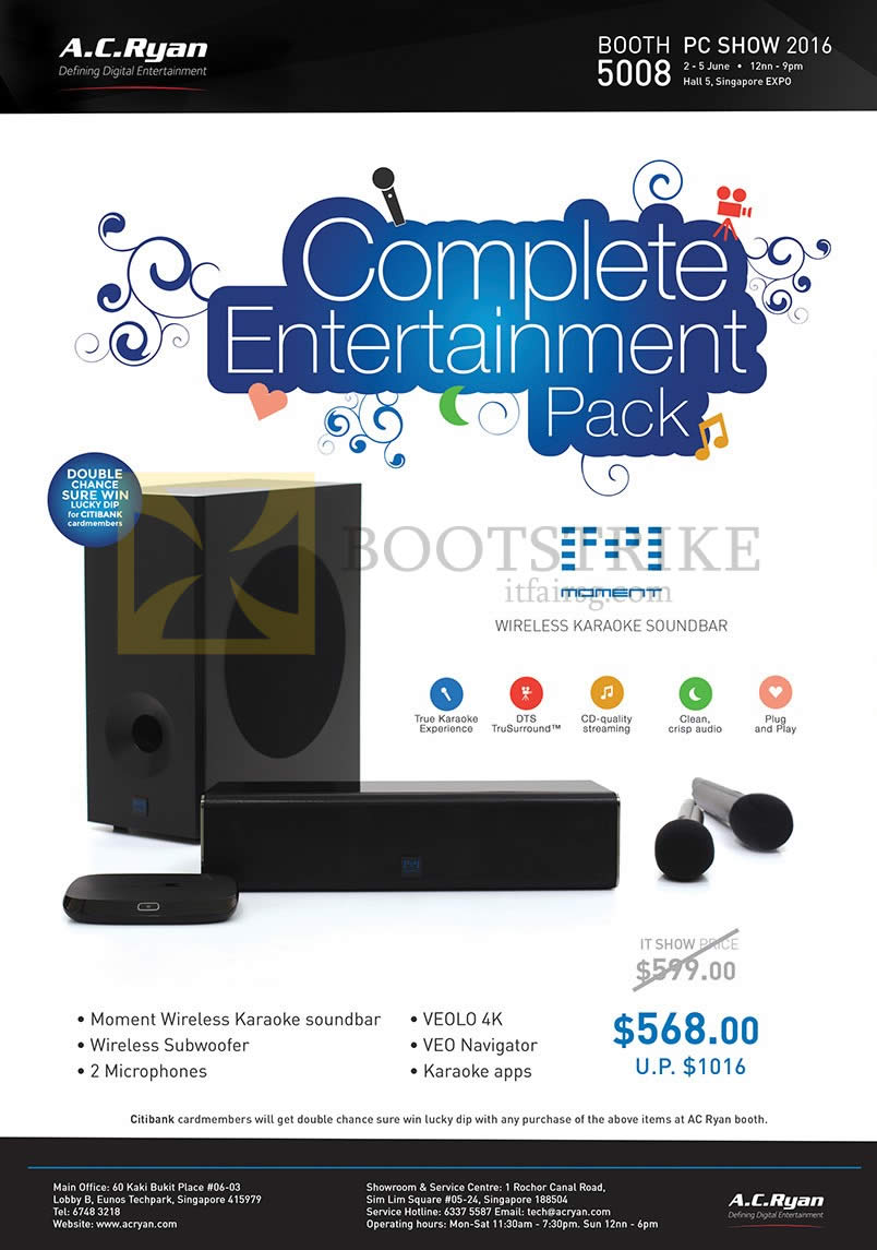 PC SHOW 2016 price list image brochure of AC Ryan Moment Complete Entertainment Pack