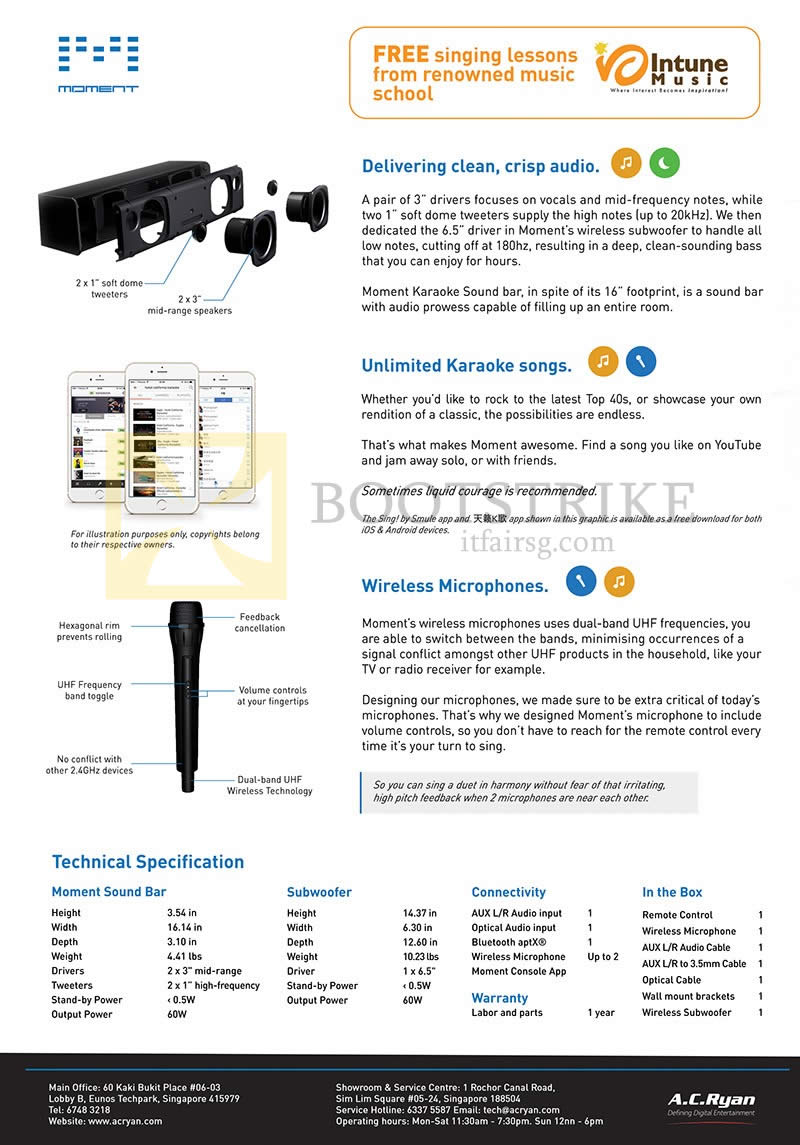 PC SHOW 2016 price list image brochure of AC Ryan Moment Features, Specifications