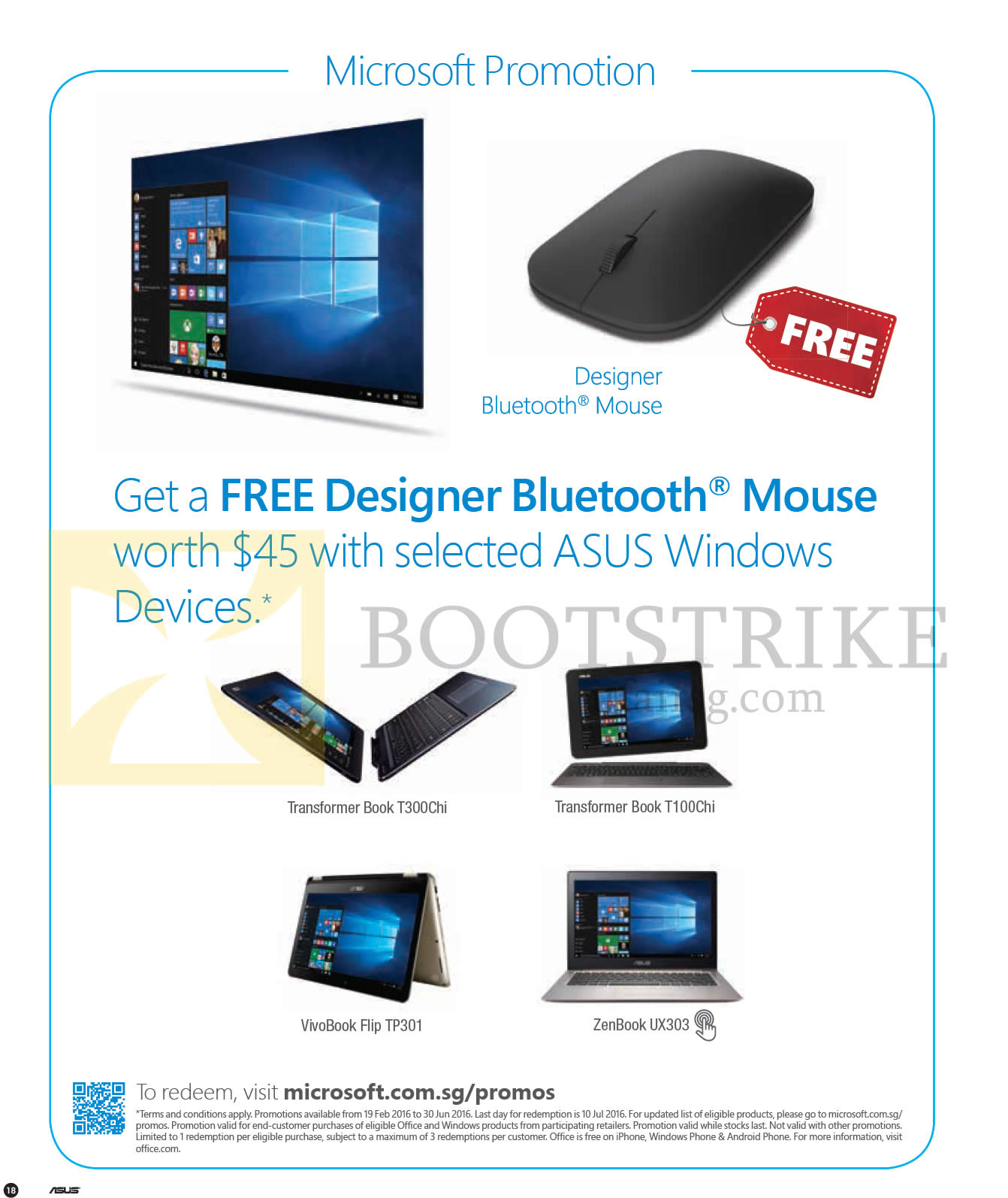 PC SHOW 2016 price list image brochure of ASUS Microsoft Promotion Free Designer Bluetooth Mouse With Selected Windows Devices