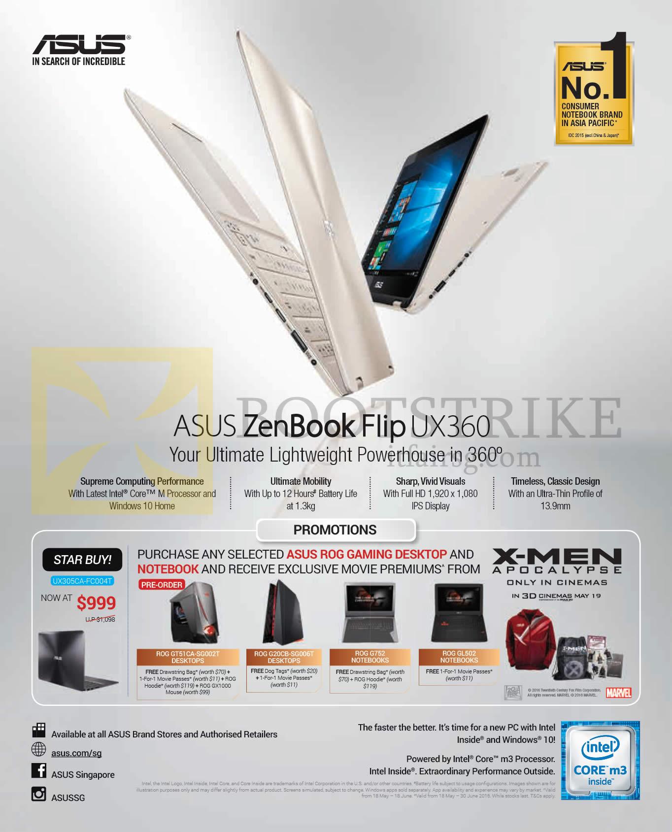 PC SHOW 2016 price list image brochure of ASUS Notebook ZenBook Flip UX360