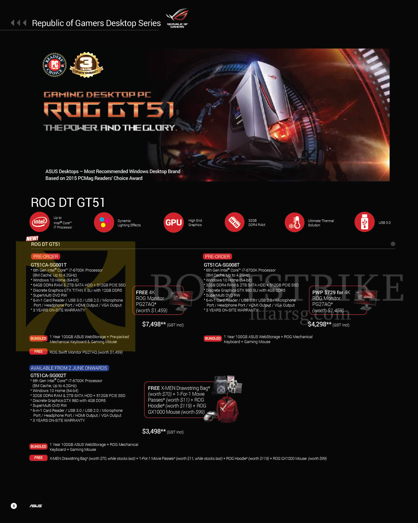 PC SHOW 2016 price list image brochure of ASUS Notebooks ROG DT GT51 GT51CA-SG001T, GT51CA-SG008T, GT51CA-SG002T