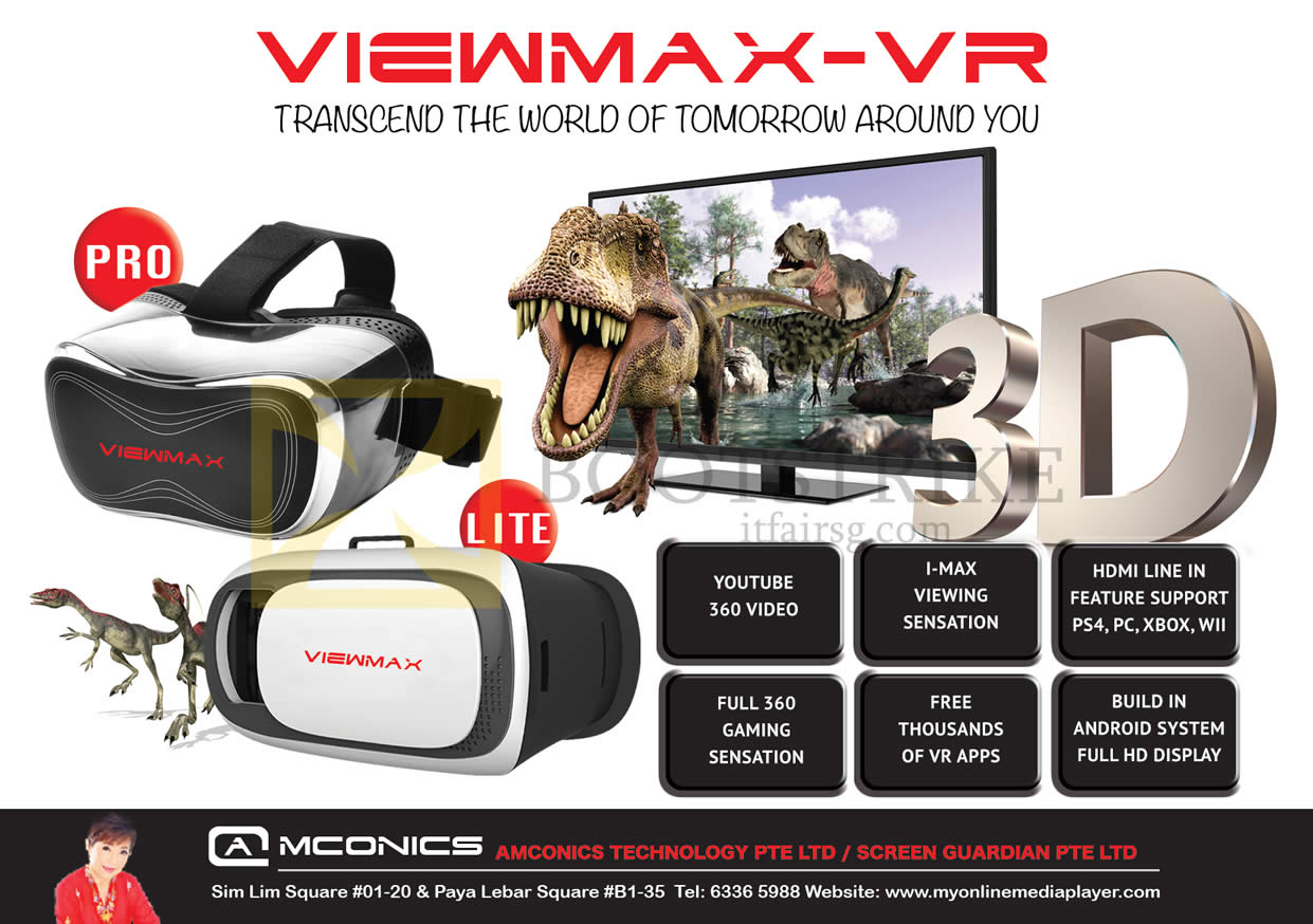 PC SHOW 2016 price list image brochure of Amconics Viewmax-VR Pro, Lite