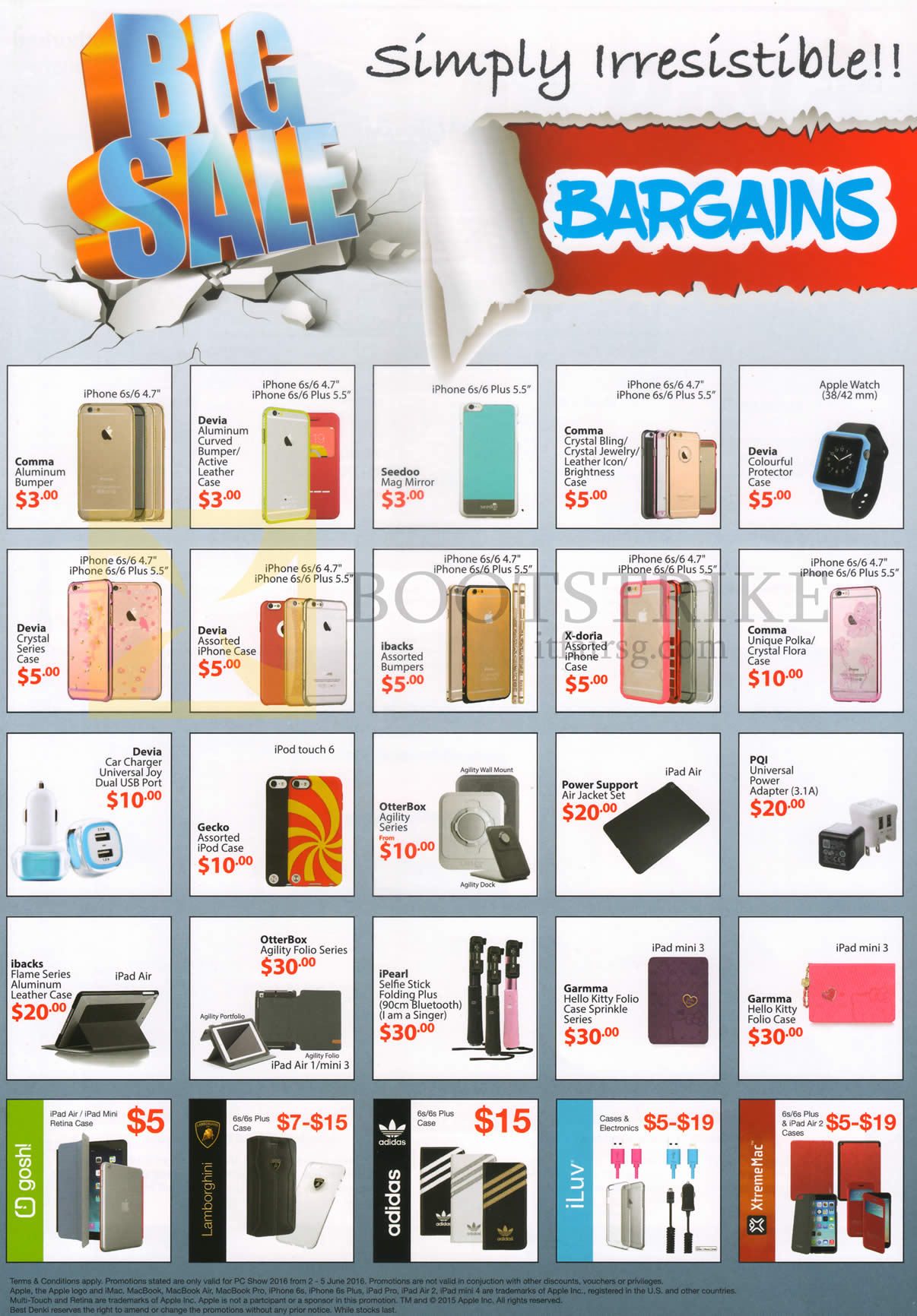 PC SHOW 2016 price list image brochure of Best Denki Mobile Phone Accessories Cases, Universal Power Adapter, Cables, Comma, Devia, Seedoo, X-doria