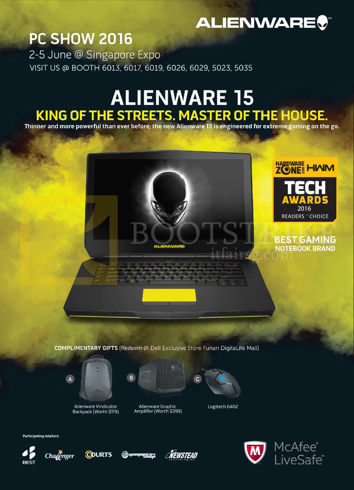 PC SHOW 2016 price list image brochure of Dell Alienware Notebook 15