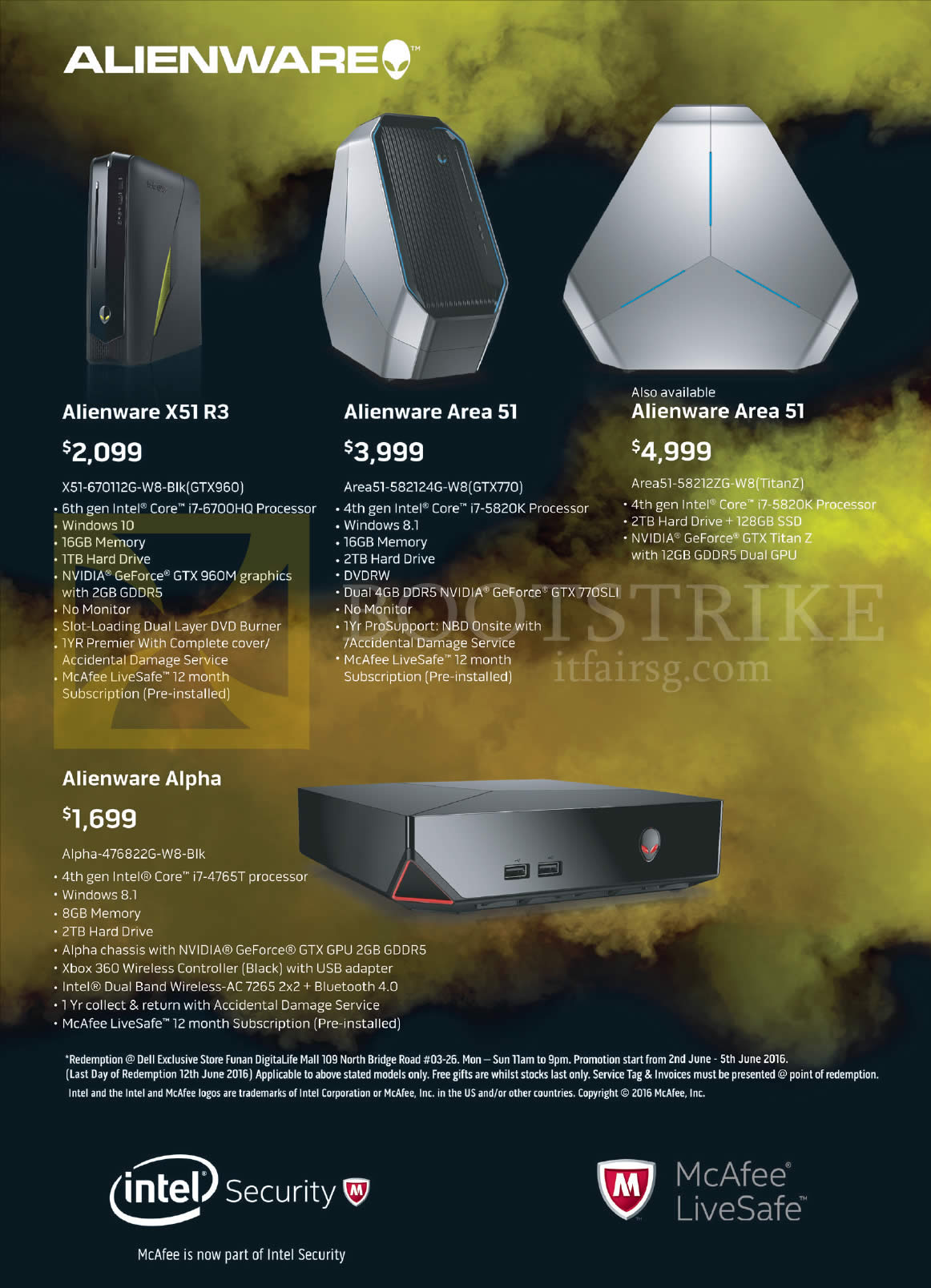 PC SHOW 2016 price list image brochure of Dell Notebook Alienware X51 R3, Area 51, Alpha