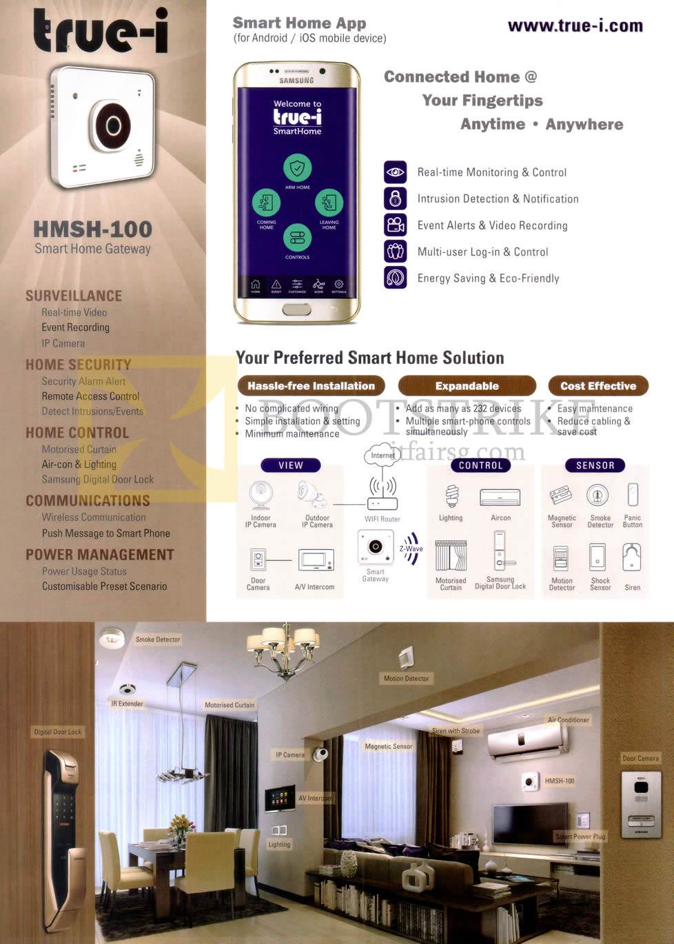 hanman true i hmsh 100 smart home gateway pc show 2016 price list brochure flyer image. Black Bedroom Furniture Sets. Home Design Ideas