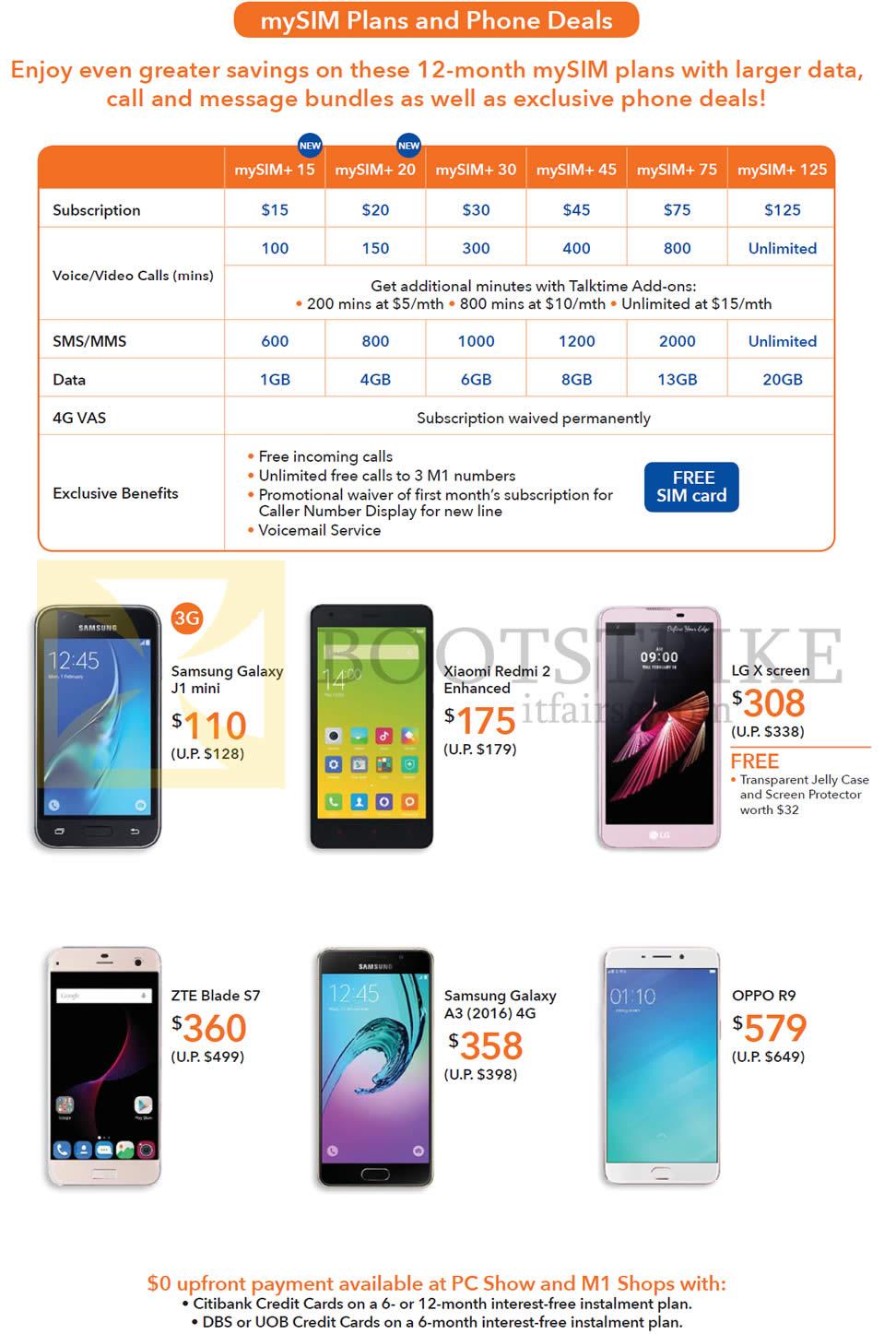 m1 mobile mysim plans phone deals mysim plus 15 samsung